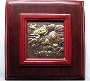 上海造币厂荷花大铜章