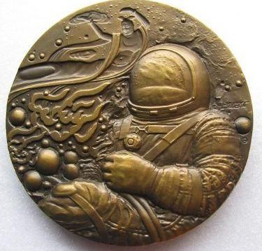 上海造币厂神五大铜章