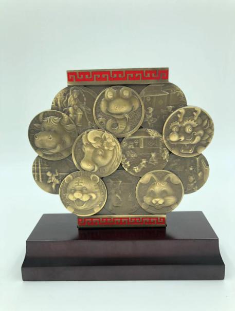 新品预定:上币卡通十二生肖荟萃铜章