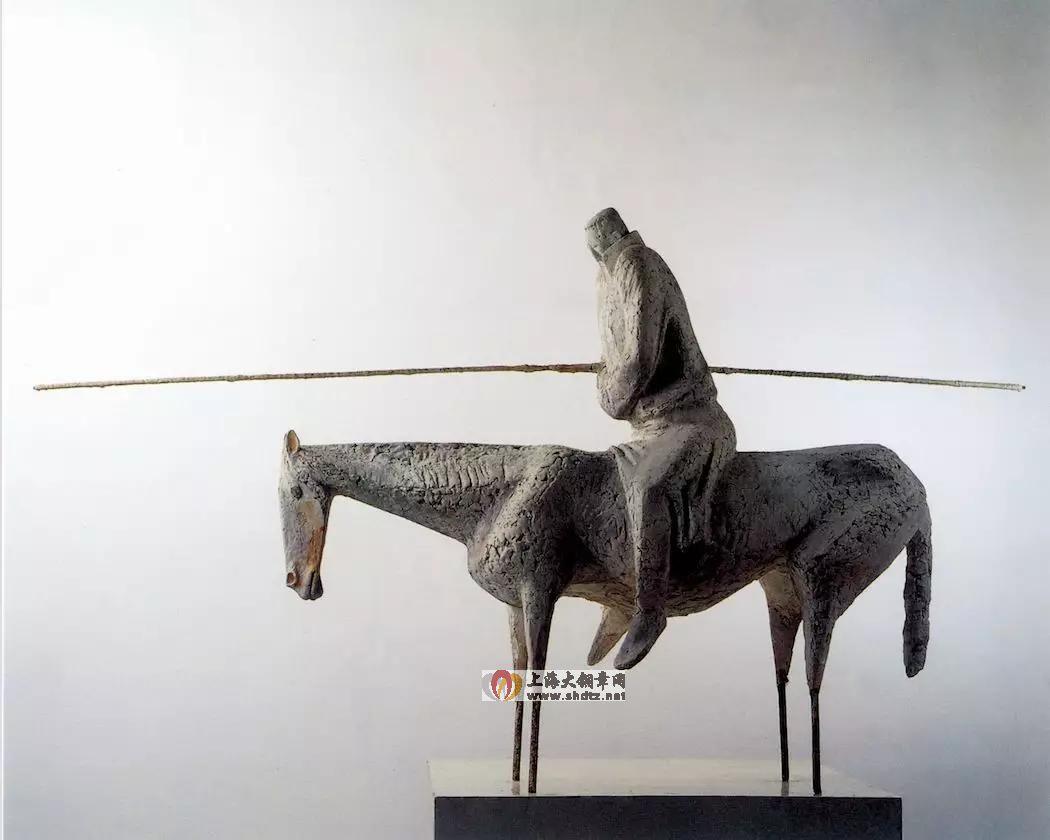 冬季草原 / 张克端 / 85 × 170 × 50 cm / 石膏 / 1985